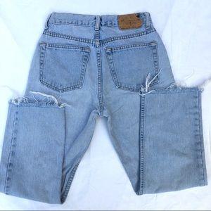 80s Raw Hem Vintage Mom Jeans